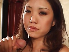 Interracial, Asian, Big Boobs, Brunette, Facial