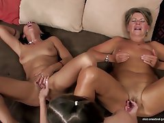 Lesbian, Granny, Mature, Group Sex, Old and Young