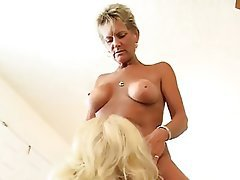 Big Boobs, Mature, MILF, Old and Young, Threesome