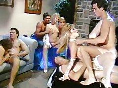 Double Penetration, Group Sex, Hairy, Swinger, Vintage