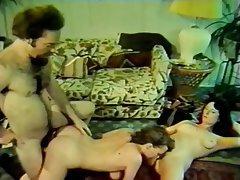Group Sex, Hairy, MILF, Pantyhose, Vintage