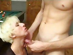 Blonde, Cumshot, Facial, Group Sex, MILF