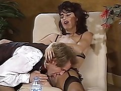Double Penetration, French, Group Sex, Stockings, Vintage