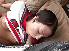 Blowjob, Brunette, Cheerleader, Pornstar