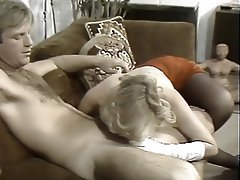 Blowjob, Facial, Blonde, Hairy, Pantyhose