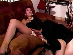 Double Penetration, Group Sex, Hairy, Stockings, Vintage